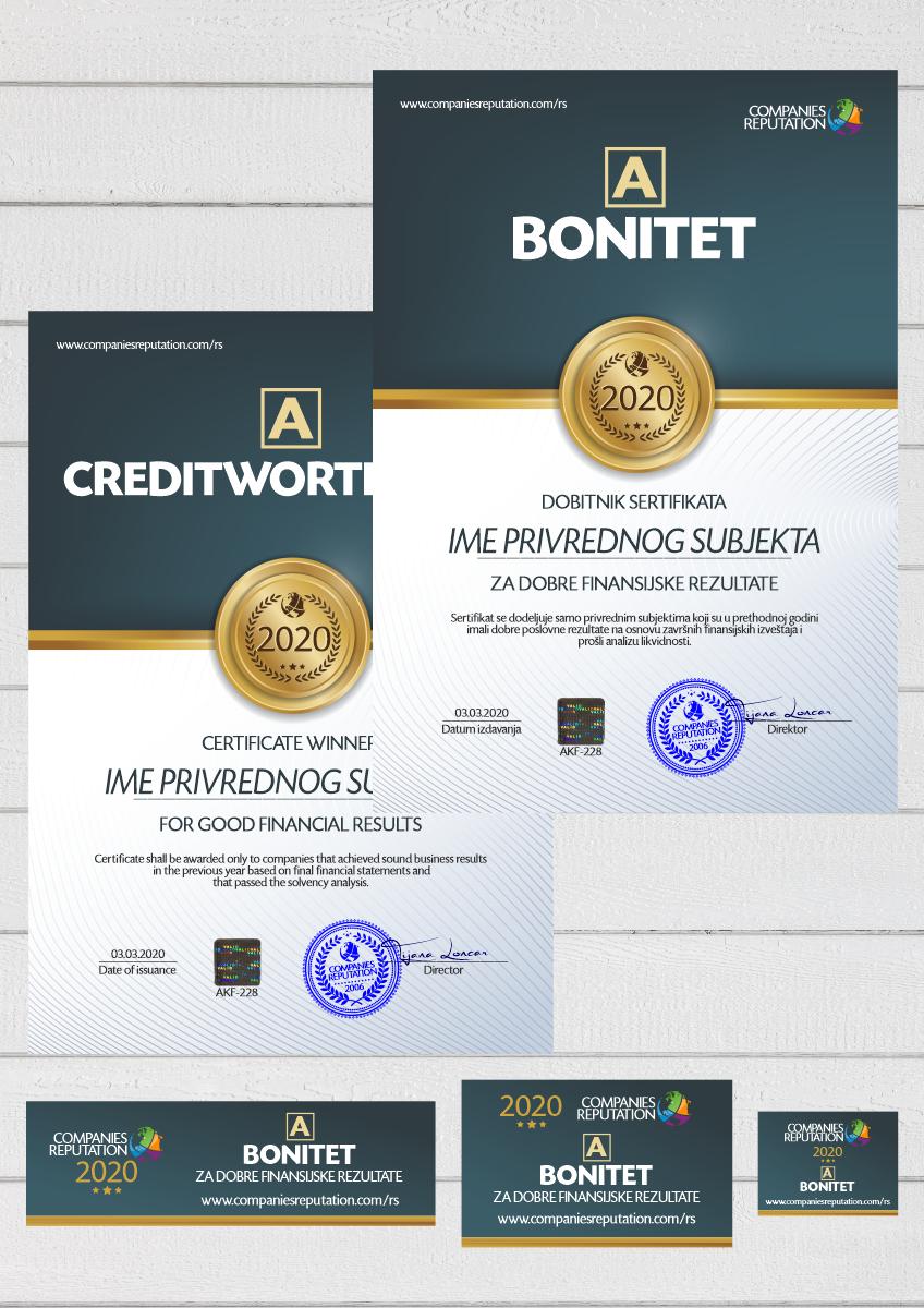 Digitalni sertifikat sa banerima