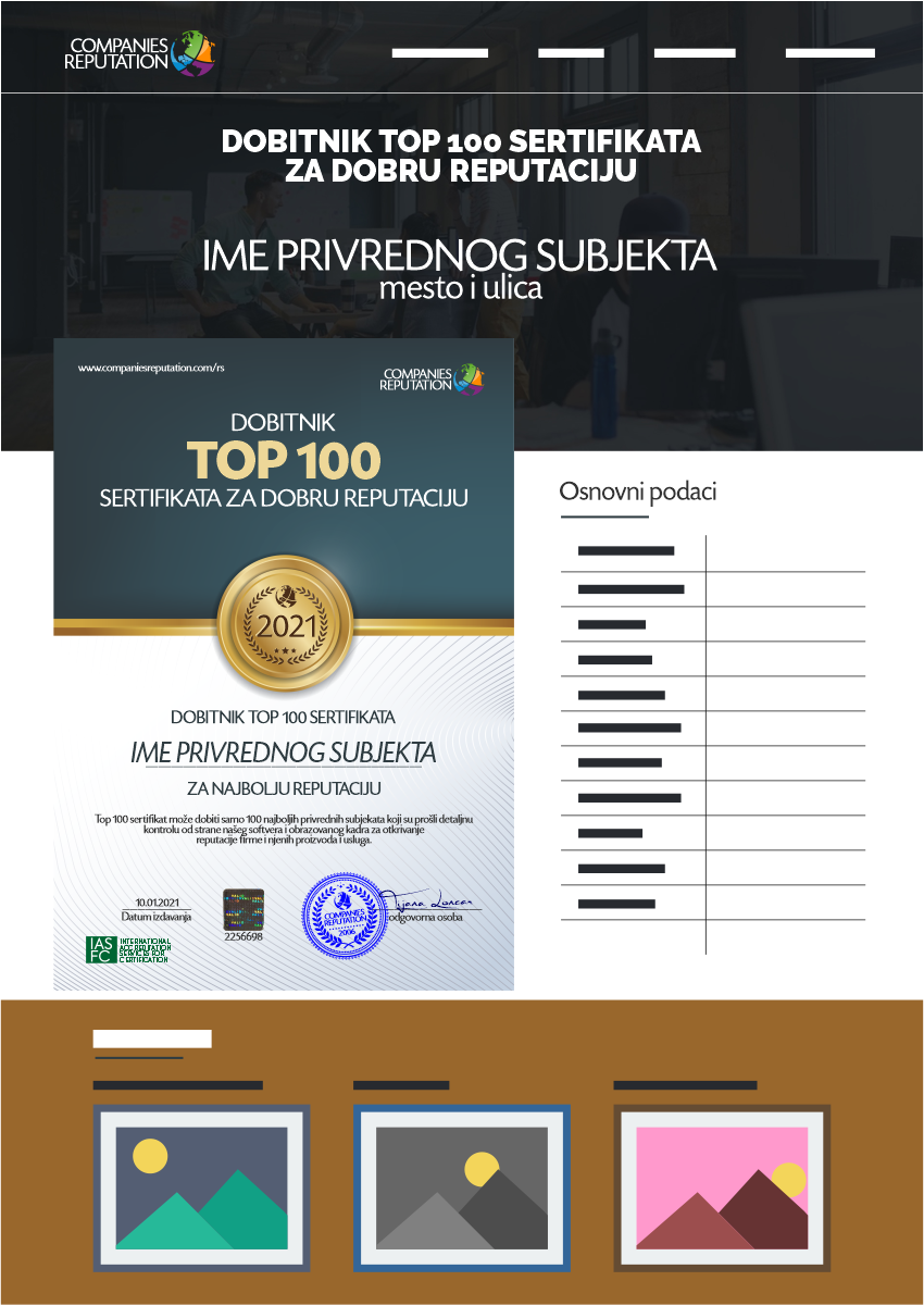 TOP 100 SERTIFIKAT